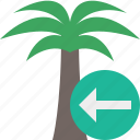 palmtree, previous, travel, tree, tropical, vacation icon