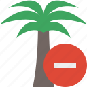 palmtree, stop, travel, tree, tropical, vacation