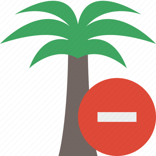 palmtree, stop, travel, tree, tropical, vacation icon