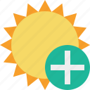 add, summer, sun, sunny, travel, vacation, weather icon