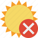 cancel, summer, sun, sunny, travel, vacation, weather icon