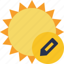 edit, summer, sun, sunny, travel, vacation, weather icon