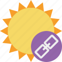link, summer, sun, sunny, travel, vacation, weather icon