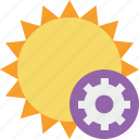 settings, summer, sun, sunny, travel, vacation, weather icon