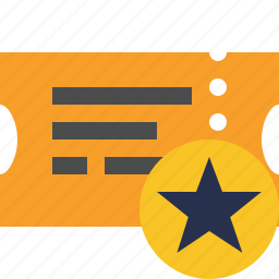 movie, star, ticket, transport, travel, vacation icon