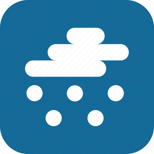 contemporary, day, fun, hail, snow, solid, weather icon