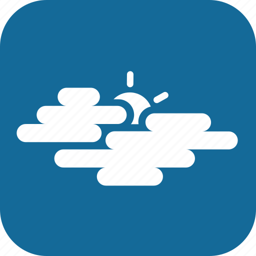 cloudy, day, mostly cloudy, weather icon