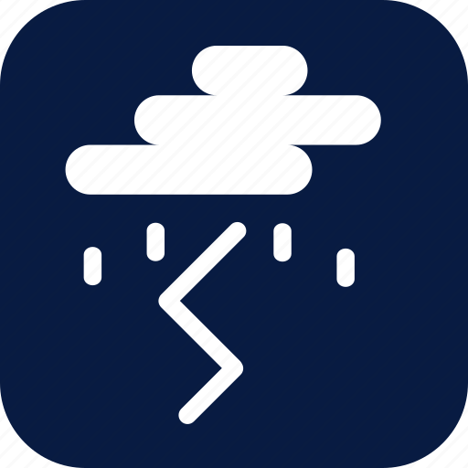 lightening, night, rain, raining, storm, weather icon