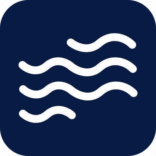 heat, night, ripple, wave, waves, weather, wind icon