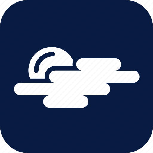 cloud, cloudy, moon, night, partly cloudy, weather icon