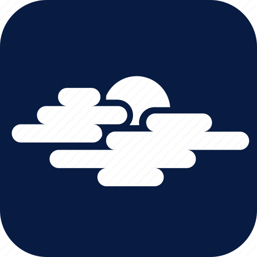 cloud, cloudy, mostly cloudy, night, weather icon