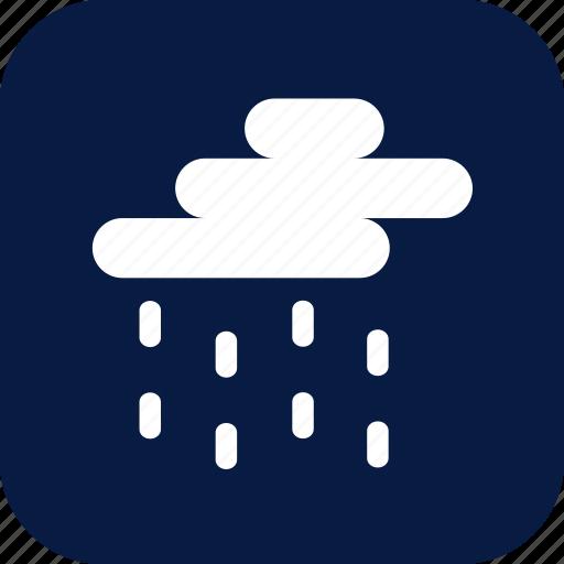 medium rain, night, rain, raining, weather icon