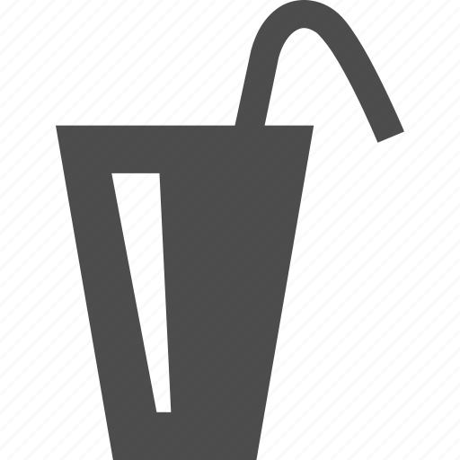 beverage, drink, glass, glassware, straw icon