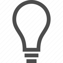 bulb, concept, idea, illuminate, lamp, light, lighting, opinion, think, thought icon