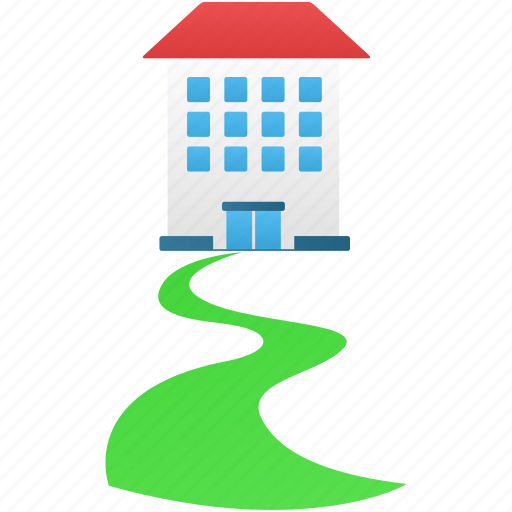 direct, home, house, walkway icon