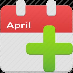 add, calendar, event icon