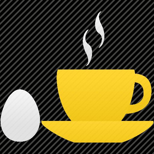 breakfast, coffee, egg, food icon