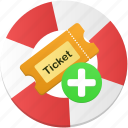 add, create, ticket icon