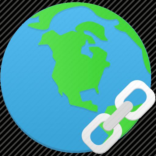 globe, hyperlink, insert icon