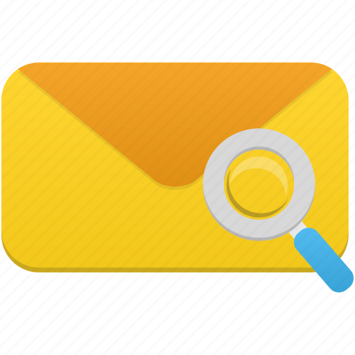 email, mail, search icon