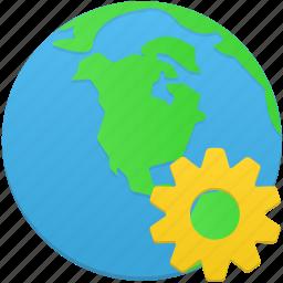 globe, management, web icon