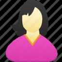 female, girl, woman, avatar, user, person, profile