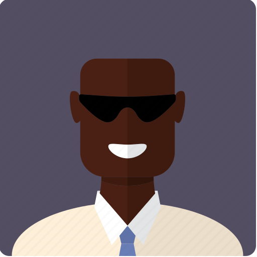 african, avatar, bald, face, male, man, tie icon