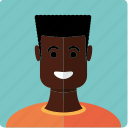 african, avatar, boy, face, flatcut, male, man icon