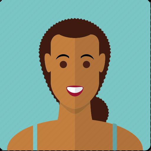 avatar, beauty, face, female, girl, latin, woman icon