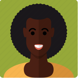 african, afro, avatar, curls, face, female, woman icon