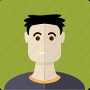 avatar, boy, dark haired, face, male, man, young