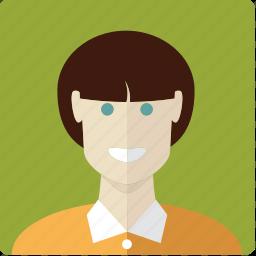 avatar, brunette, face, female, girl, woman icon