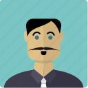 avatar, face, latin, male, man, mustache icon