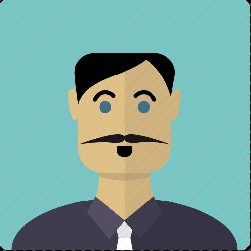 avatar, face, latin, male, man, mustache icon