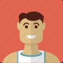 avatar, boy, face, male, man, shirt, sports