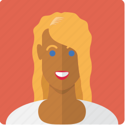 avatar, blonde, face, female, girl, tanned, woman icon