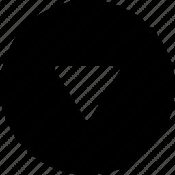 circle, down icon