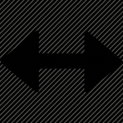 expand, horizontally icon