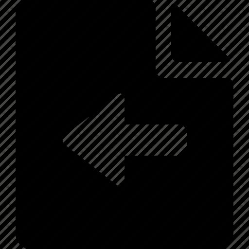 document, export icon