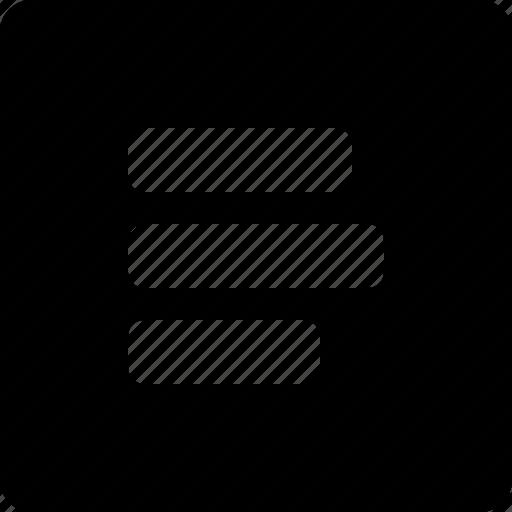 left, text icon