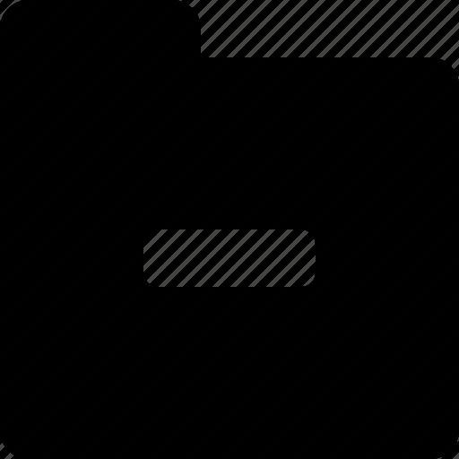 folder, remove icon