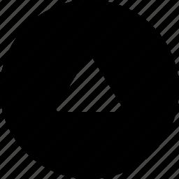 circle, up icon