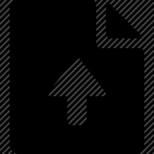 document, upload icon