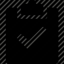 checkmark, clipboard icon