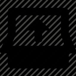 fold, up icon