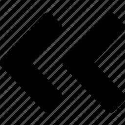 angle, left, quote icon