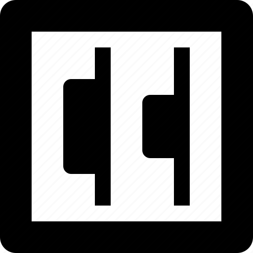 align, edges, right icon