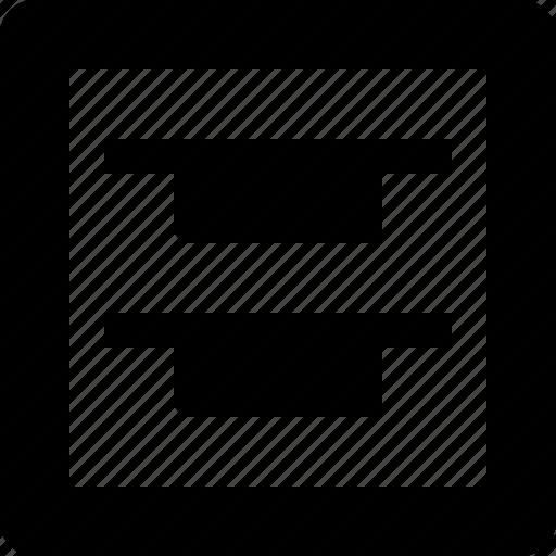Align, edges, top icon