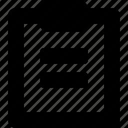 1a, clipboard icon