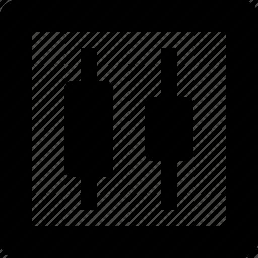 centers, distribute, horizontally icon